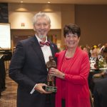 Miracles In Sight President and CEO Dean Vavra is pictured with IFB Solutions Board Chair Ann Johnston